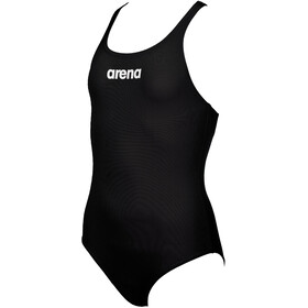 arena Solid Swim Pro One Piece Badpak Meisjes, black/white